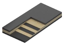 Резинотканевая износостойкая конвейерная лента (истирание 90 мм3)